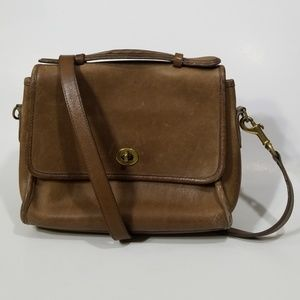Coach Vintage Brown Court Crossbody Bag